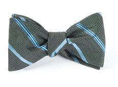 Bow Ties - EDITOR STRIPE - DARK GREEN