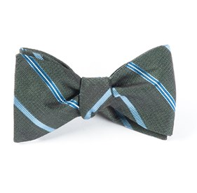Editor Stripe Dark Green Bow Ties