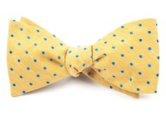 BOW TIES - DOTTED DOTS - YELLOW