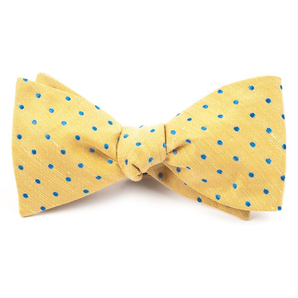 Yellow Dotted Dots Bow Tie
