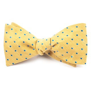 dotted dots yellow bow ties