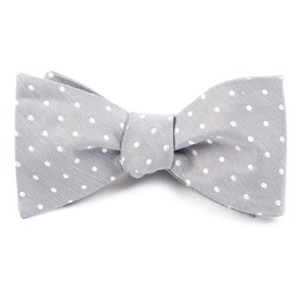 Silver Dotted Dots bow ties