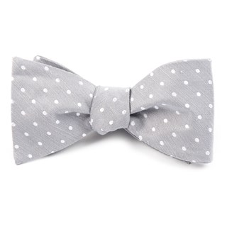 dotted dots silver bow ties