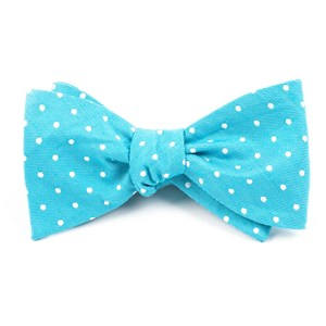 dotted dots turquoise bow ties