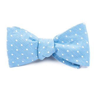 dotted dots light blue bow ties