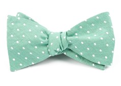 Bow Ties - Dotted Dots - Mint