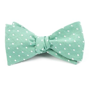 dotted dots mint bow ties