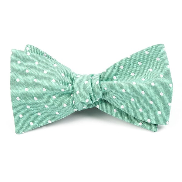 Mint Dotted Dots Bow Tie