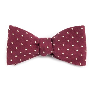 dotted dots burgundy bow ties