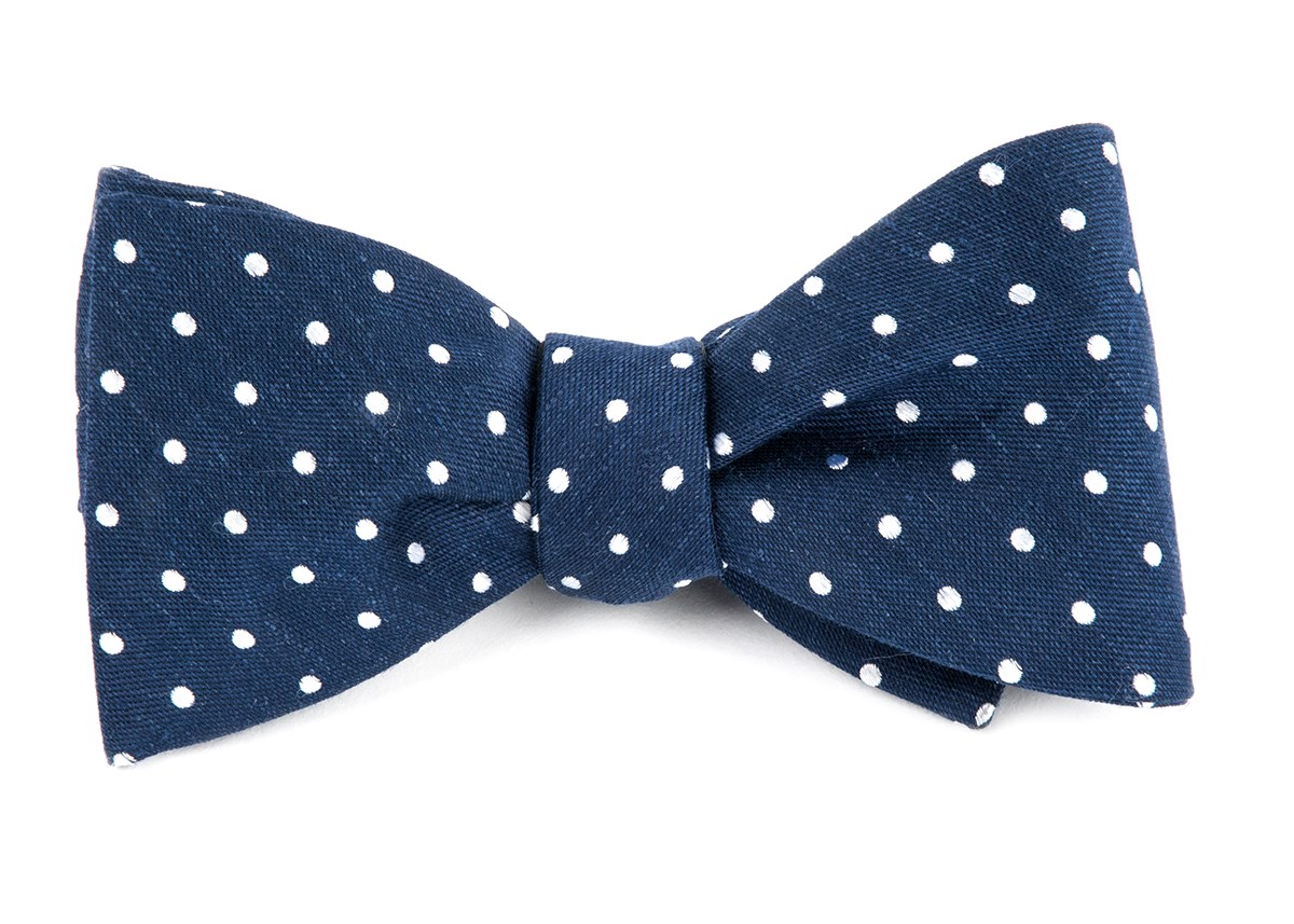 Dotted Dots Navy Bow Tie Men S Bow Ties The Tie Bar