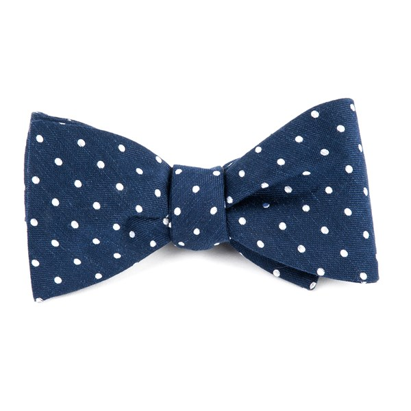 Navy Dotted Dots Bow Tie