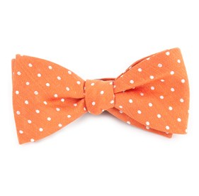 Dotted Dots Orange Bow Ties