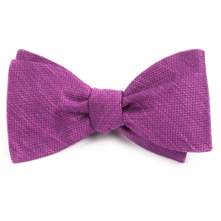 festival textured solid azalea bow ties