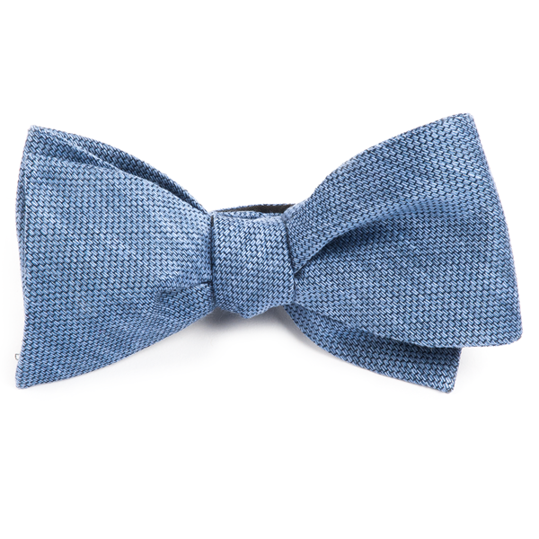 Slate Blue Festival Textured Solid Bow Tie