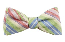 Bow Ties - Stripe Course - Apple Green