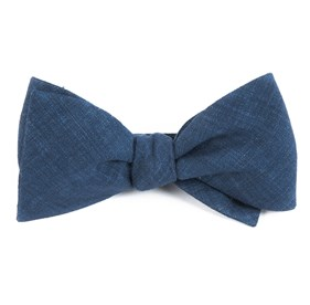 Navy Freehand Solid bow ties