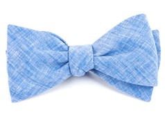 BOW TIES - FREEHAND SOLID - LIGHT BLUE