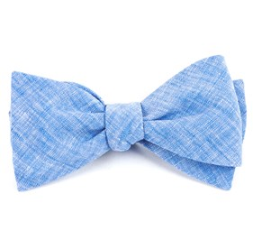 Light Blue Freehand Solid bow ties