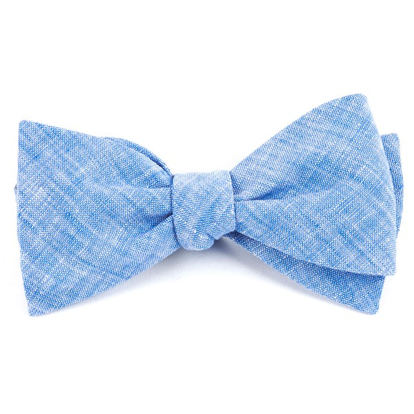 Light Blue Freehand Solid Bow Tie