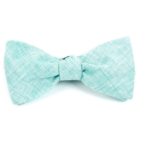 Spearmint Freehand Solid Bow Tie