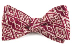 Bow Ties - Aztecture - Burgundy