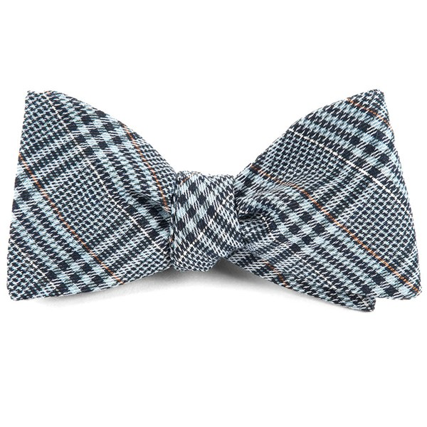 Light Blue Columbus Plaid Bow Tie
