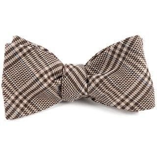 Columbus Plaid Browns Bow Tie