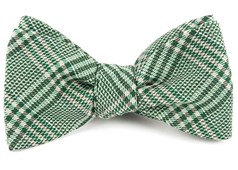 Bow Ties - Columbus Plaid - Moss Green