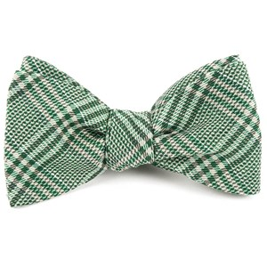 columbus plaid moss green bow ties