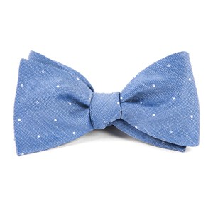 bulletin dot light cornflower bow ties