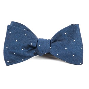 bulletin dot navy bow ties