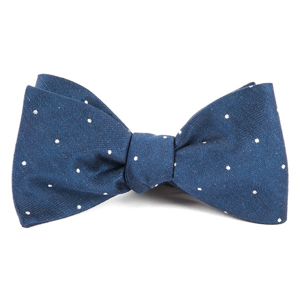 Navy Bulletin Dot Bow Tie