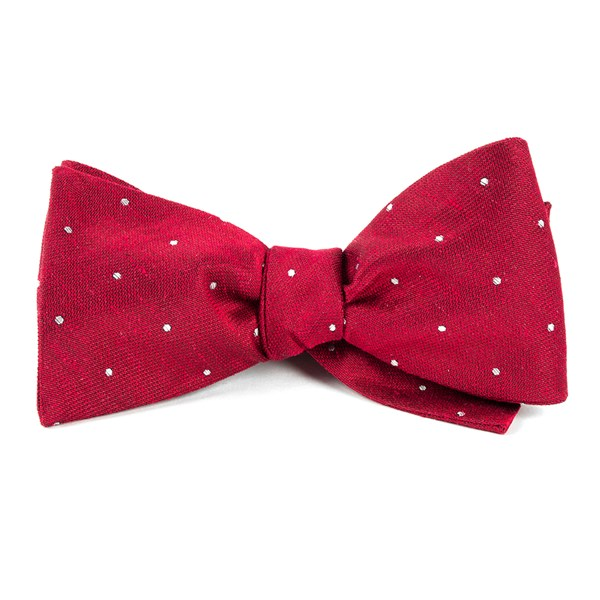 Red Bulletin Dot Bow Tie