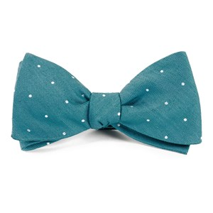 bulletin dot teal bow ties