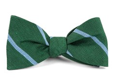 Bow Ties - Spring Break Stripe - Hunter Green