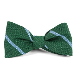 Spring Break Stripe Hunter Green Bow Tie
