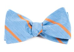 BOW TIES - SPRING BREAK STRIPE - LIGHT BLUE