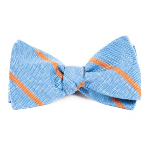spring break stripe light blue bow ties