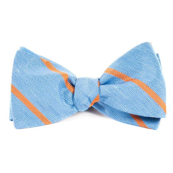Light Blue Spring Break Stripe Bow Tie
