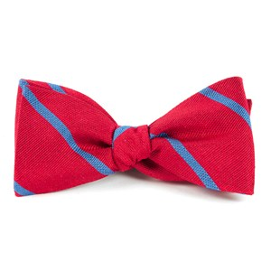 spring break stripe apple red bow ties