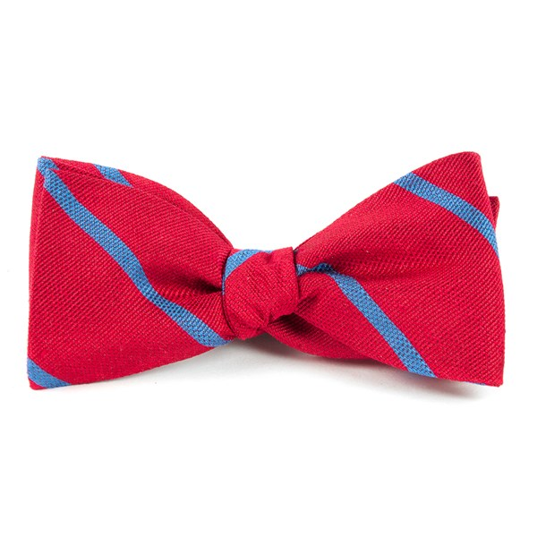 Apple Red Spring Break Stripe Bow Tie
