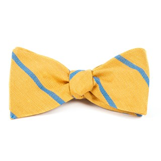 spring break stripe yellow gold bow ties