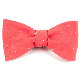 Coral Bulletin Dot bow ties