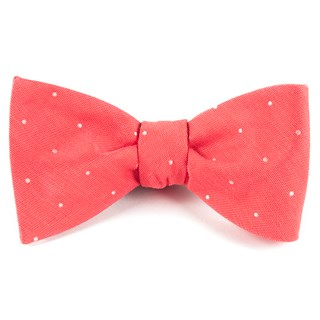 bulletin dot coral bow ties