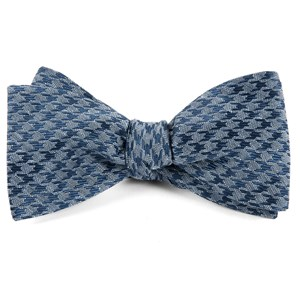 white wash houndstooth blue bow ties