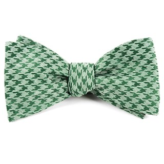 white wash houndstooth moss green bow ties