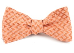 Bow Ties - White Wash Houndstooth - Orange