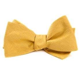 Yellow Linen Row bow ties