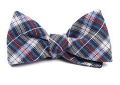 Bow Ties - Plaid Outlook - Navy