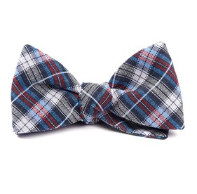 Navy Plaid Outlook bow ties